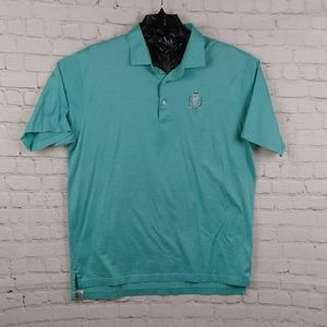 Peter Millar Striped Short Sleeve Polo Shirt XL